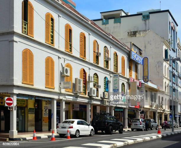 colonial buildings, bandar seri begawan, brunei darussalam - bandar seri begawan stock photos and pictures
