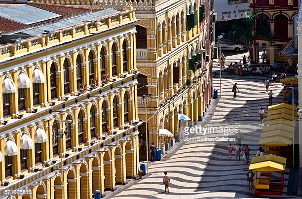 Colonial buildings in Senado square