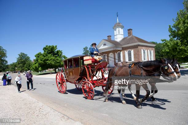 colonial carriage rides, williamsburg, va - colonial williamsburg stock photos and pictures