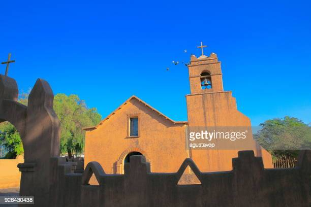 Colonial church in São Pedro de Atacama, Atacama Desert – Chile, South America