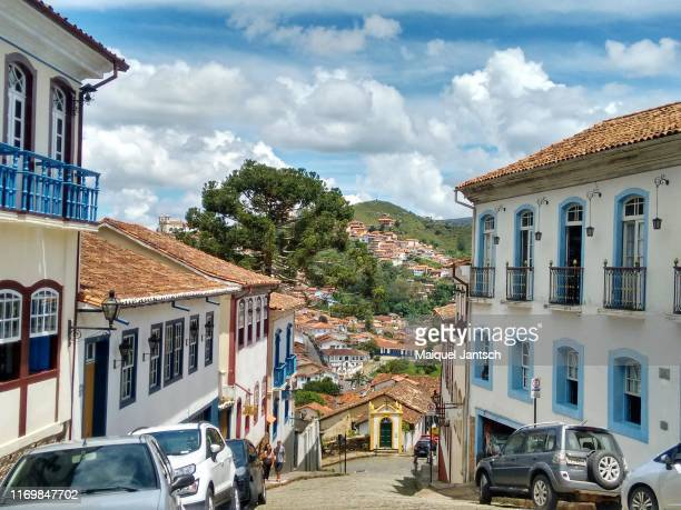 colonial city of ouro preto - minas gerais - brazil - preto stock pictures, royalty-free photos & images