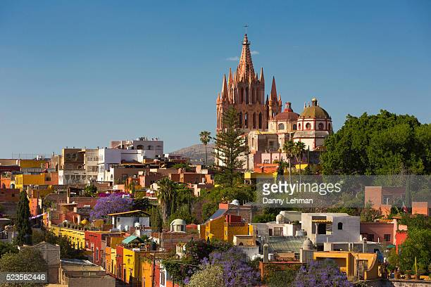 colonial city of san miguel de allende, mexico - mexico stock pictures, royalty-free photos & images