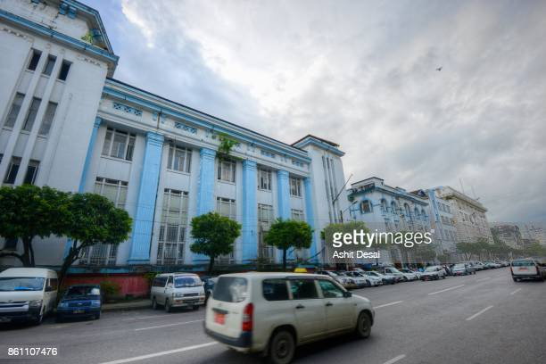 colonial era buildings in yangon, myanmar. - yangon stock pictures, royalty-free photos & images