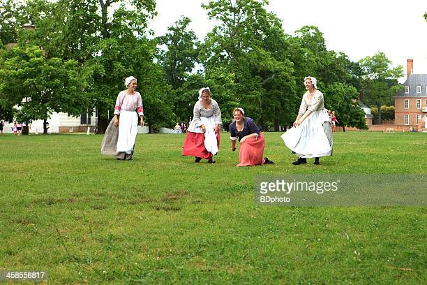 colonial life in williamsburg, virginia - colonial america stock photos and pictures