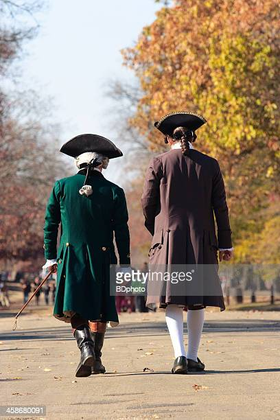 colonial men in williamsburg, va - colonial style stock pictures, royalty-free photos & images