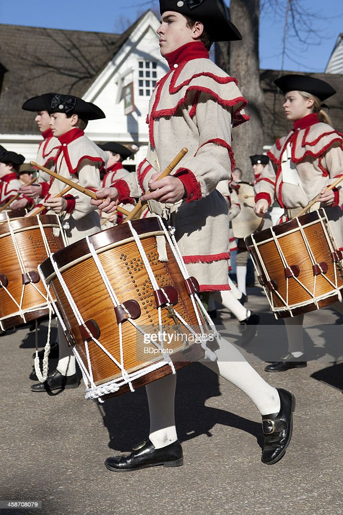 colonial musicians in Williamsburg, Va : Stock Photo