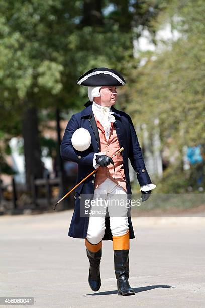 colonial officer in williamsburg, virginia - colonial style stock pictures, royalty-free photos & images