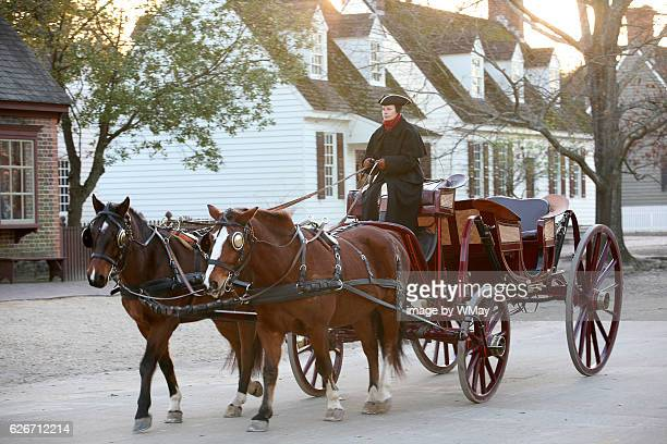 colonial scene in williamsburg - williamsburg virginia stock pictures, royalty-free photos & images