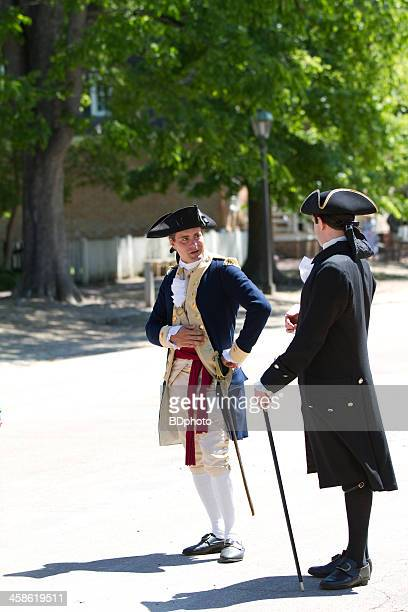 colonial scene in williamsburg, virginia - colonial style stock pictures, royalty-free photos & images