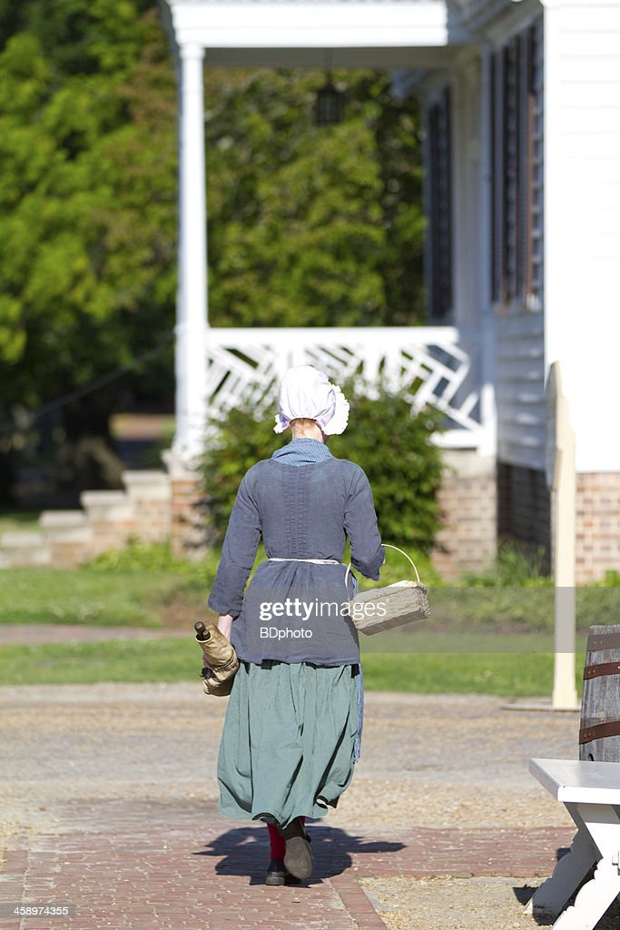 Colonial scene in Williamsburg, Virginia : Stock Photo