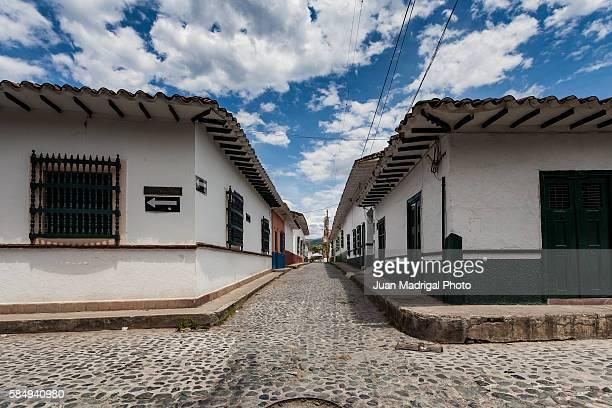 Colonial street in Santa Fe de Antioquia