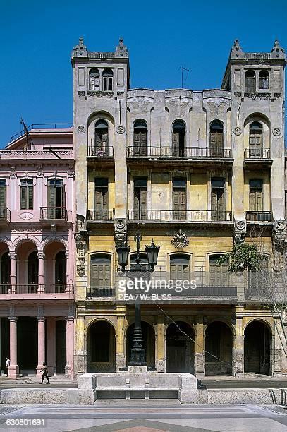 Colonial style building, Paseo de Marti , Old Havana , Cuba.