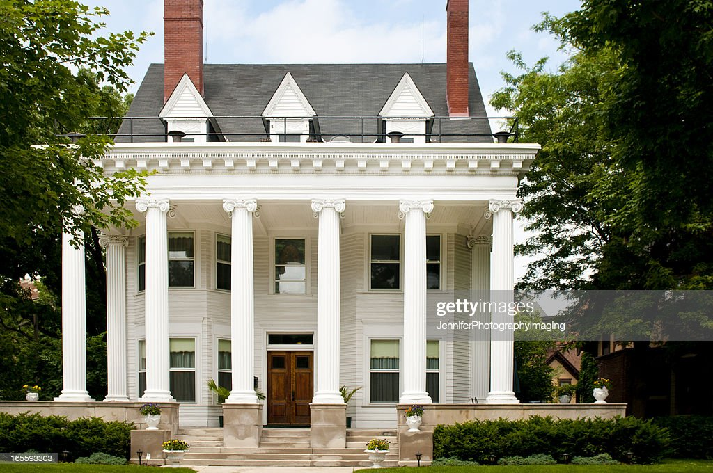 Colonial Style Home : Stock Photo