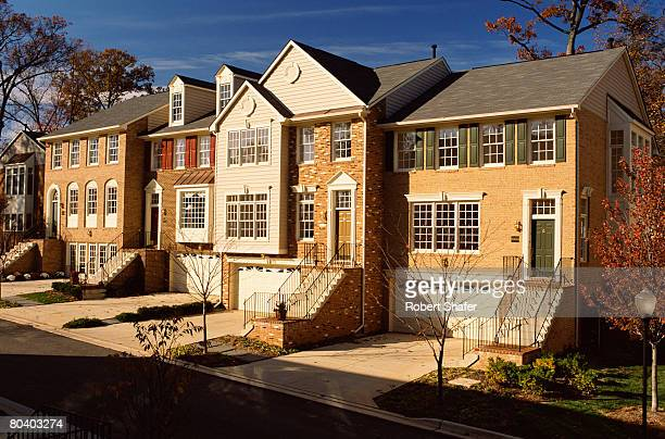 Colonial style townhouses, Bethesda, Maryland