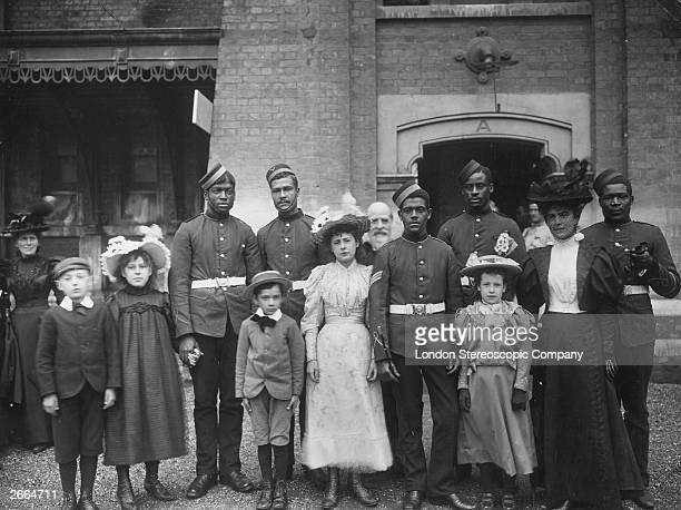 Colonial troops and admirers in England for Queen Victoria's Diamond jubilee celebrations