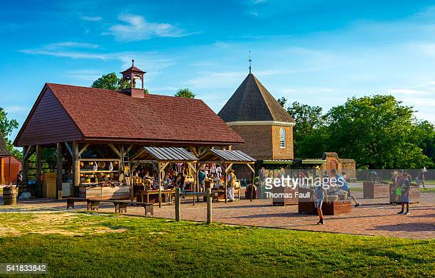 colonial williamsburg - market - williamsburg virginia stock pictures, royalty-free photos & images