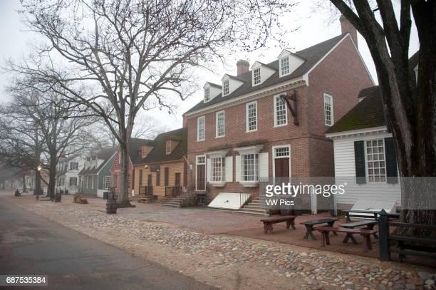 Colonial Williamsburg VA in fog