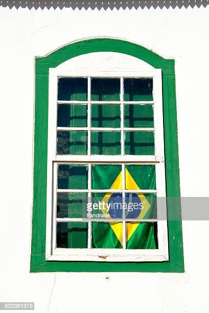 Colonial window Pirenopolis Brazil