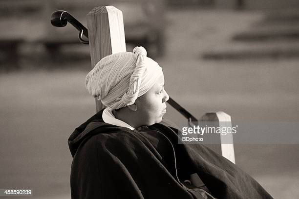 Colonial woman in Williamsburg, Va