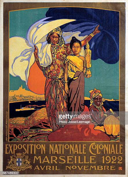 poster of colonial national exhibition in Marseille illustration by David Dellepiane Musee de l'Armee Invalides Contemporary Department The two World...