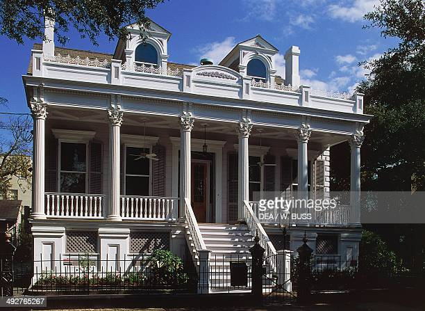 Colonialstyle house in the Garden District of New Orleans Louisiana United States of America