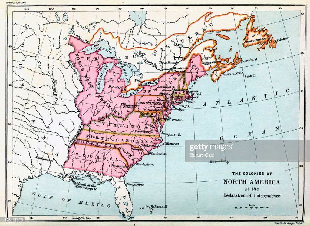Colonies of North America in 1776 : News Photo
