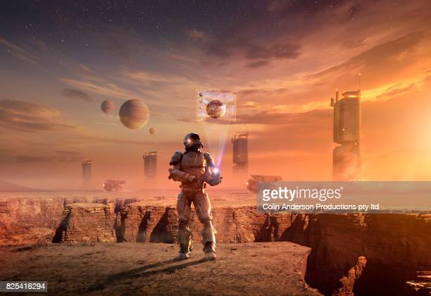 colonizing mars - space exploration stock photos and pictures