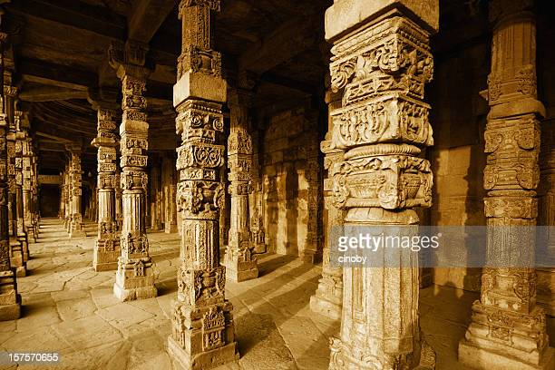 Colonnade in Quitab Minar Temple