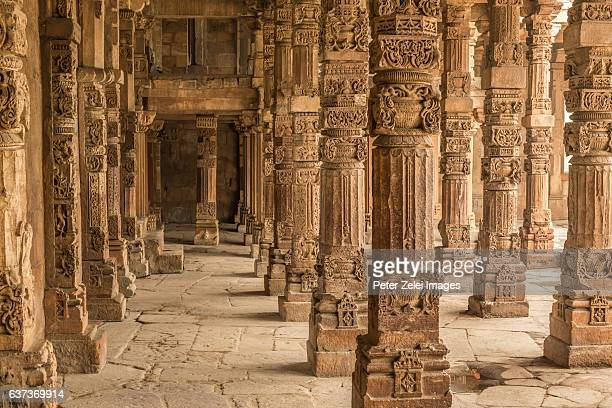 Colonnade in Qutub Minar in Delhi, India