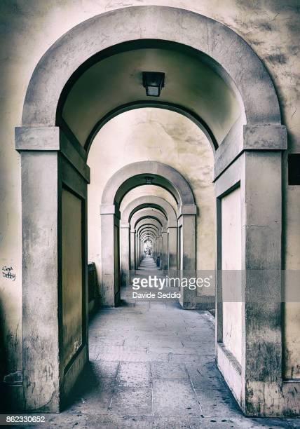 Colonnade leading to the Ponte Vecchio