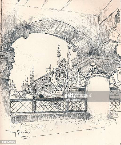 'Colonnade near the Pont des Invalides' c1900 A sketch of the 'Exposition Universelle' of 1889 A World's Fair held in Paris From The Studio Volume 20...