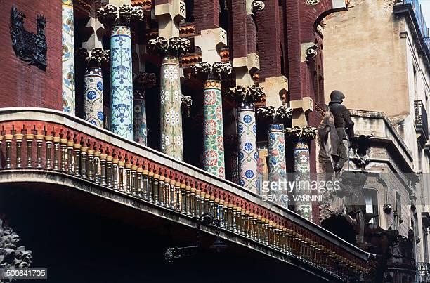 Colonnade on the facade of the Palau de la Musica Catalana 19051908 Barcelona Catalonia Spain 20th century