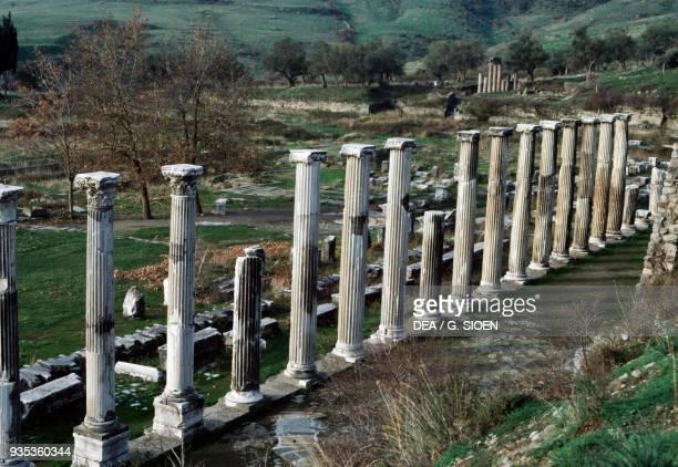 Colonnade, Sanctuary of Asclepius in Pergamon , Turkey. Roman civilisation, 2nd century AD.