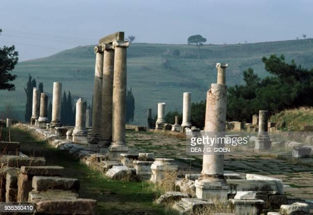 Colonnade Sanctuary of Asclepius in Pergamon Turkey Roman civilisation 2nd century AD