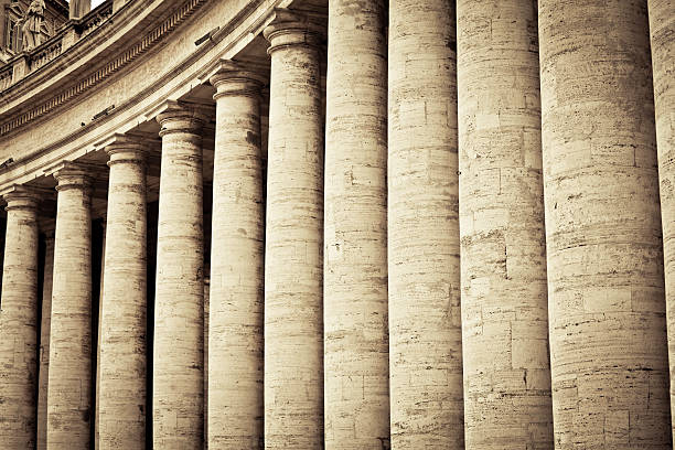 """Colonnades in Vatican City, Rome"""