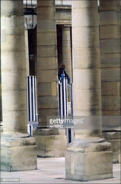 Colonnes de Buren at the Palais Royal