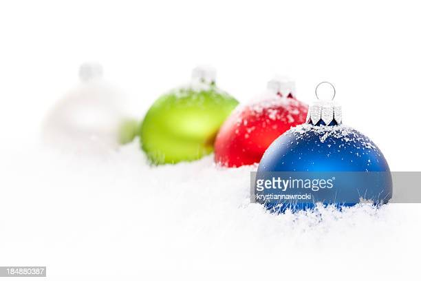 Color Baubles on snow