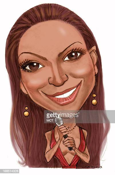 color caricature of pop singer Beyonce Knowles