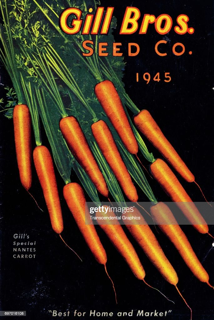 Color catalog cover for Gill Brothers Seed Company, Portland, Oregon, 1945.