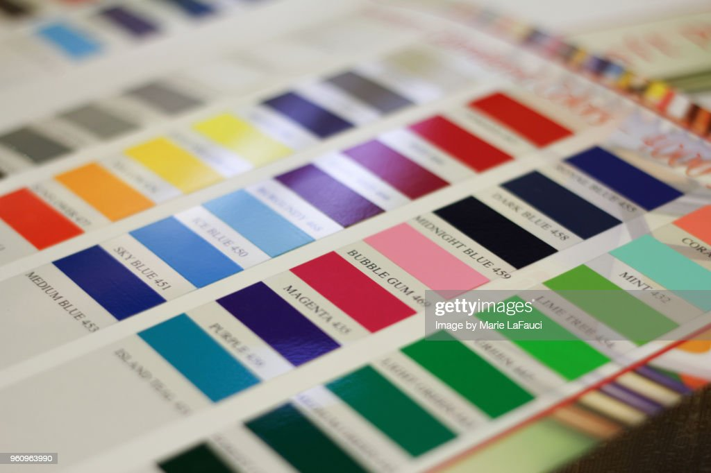 Color chart with labels : Stock Photo