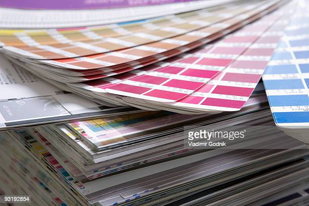 Color charts and printing samples