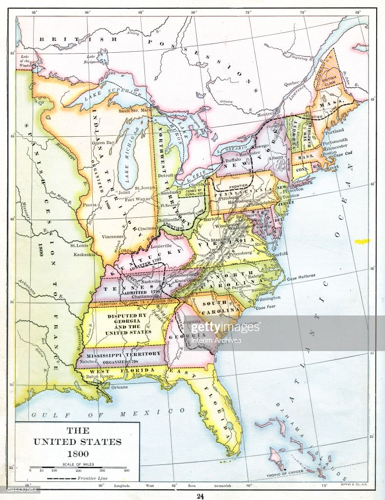 Color coded map of the United States of America, including Northwest ...