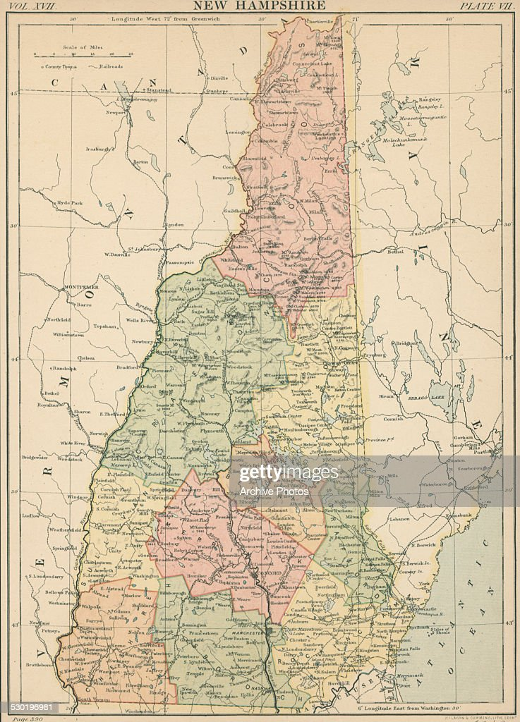 Map Of New Hampshire Pictures Getty Images