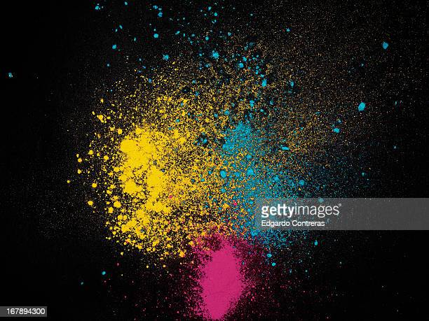 color dust magenta yellow and cyan