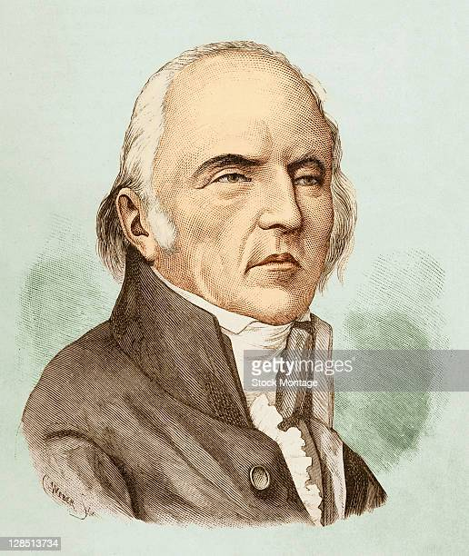 Color engraving shows French naturalist Jean Baptiste Lamarck late 18th or early 19th century