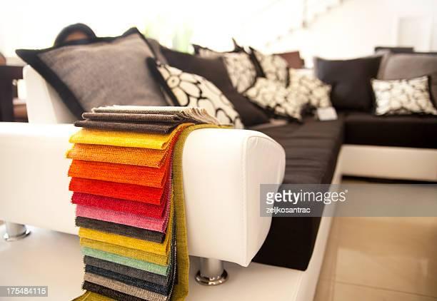 Échantillons de tissu de couleur