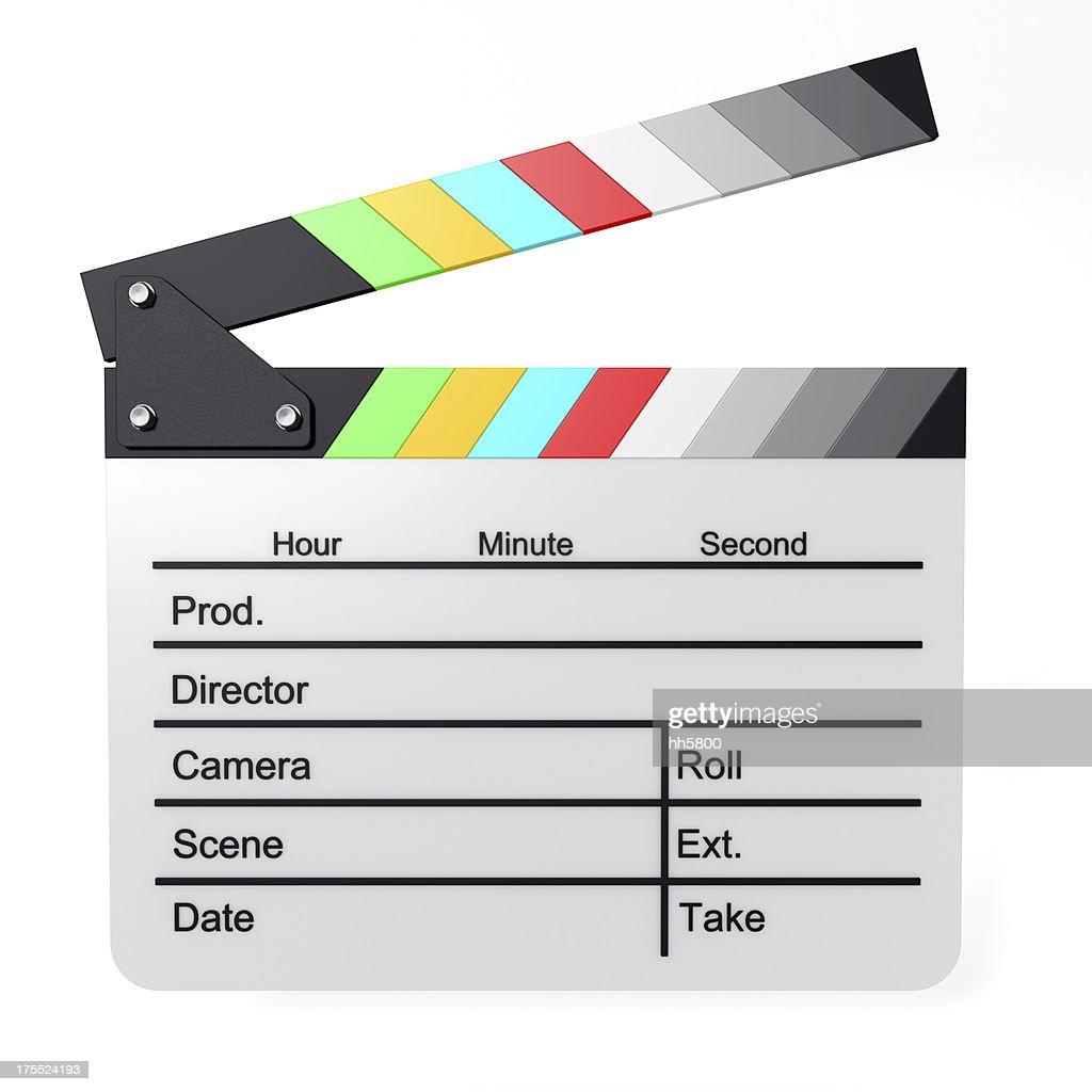 Color Film Slate : Stockfoto