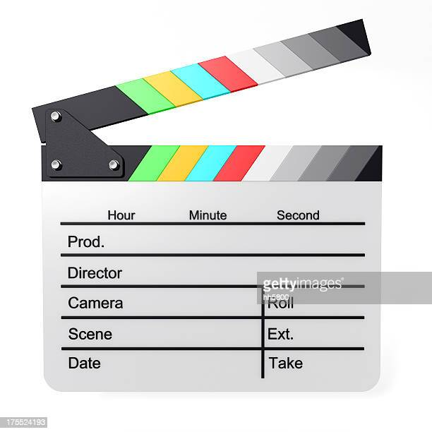 color film slate - clapboard stock pictures, royalty-free photos & images