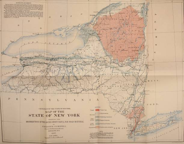 Map Of New York State Pictures | Getty Images