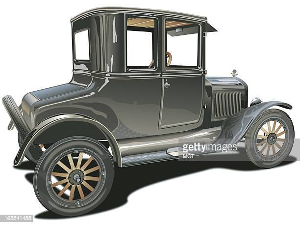 color illustration of a mid1920s Ford Model T coupe 2008 is the 100th anniversary of the Ford Model T